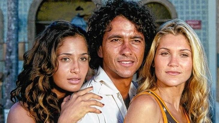Camila Pitanga, Marcos Palmeira e Flávia Alessandra em cena da novela Porto dos Milagres, de volta no Globoplay