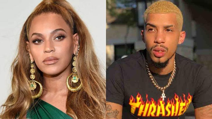 Beyoncé (à esquerda) e Kardone (à direita) em foto montagem