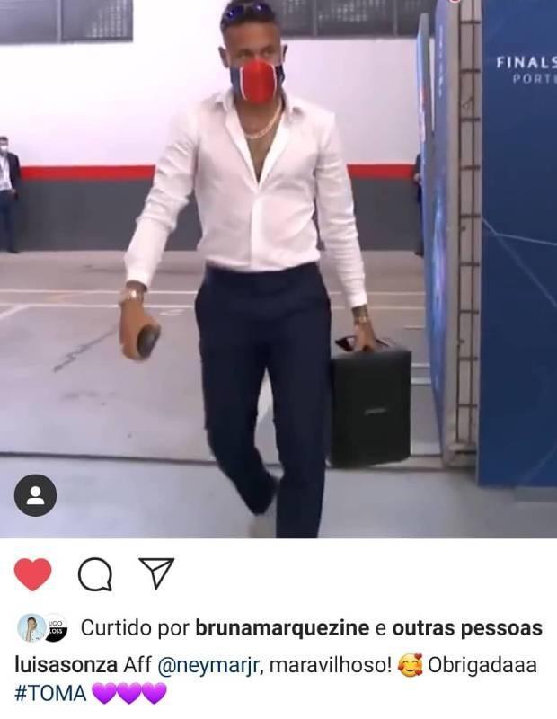 Bruna Marquezine dá like em vídeo com Neymar Jr e fãs vão ao delírio