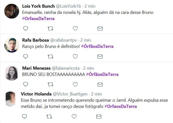 """Internautas detonam personagem de Rodrigo Simas em """"Órfãos da Terra"""""""