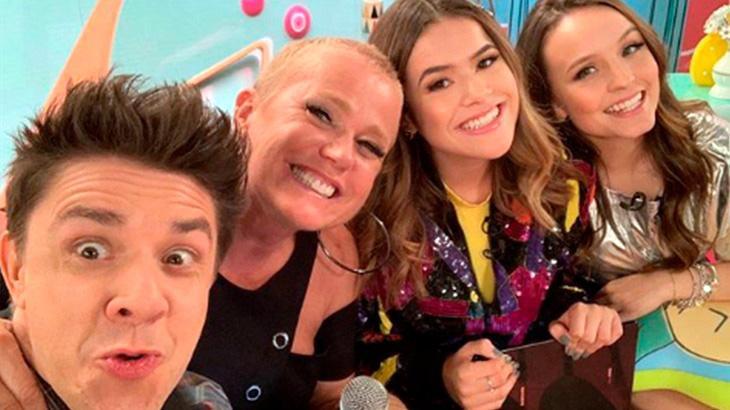 Oscar Filho, Xuxa, Maisa e Larissa Manoela
