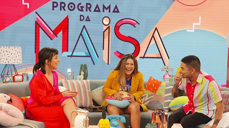 Priscilla, Maisa e Yudi rindo