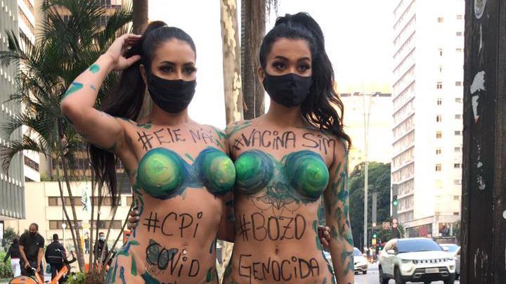 Candidatas ao Miss Bumbum 2021 tiram a roupa a favor da vacina e contra Bolsonaro