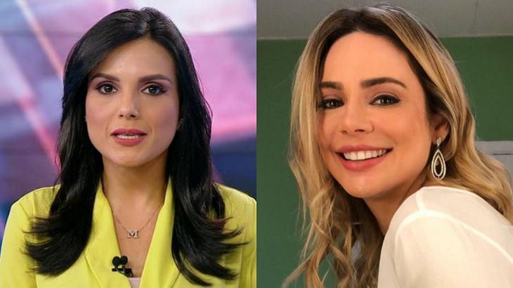 Márcia Dantas e Rachel Sheherazade em foto montagem