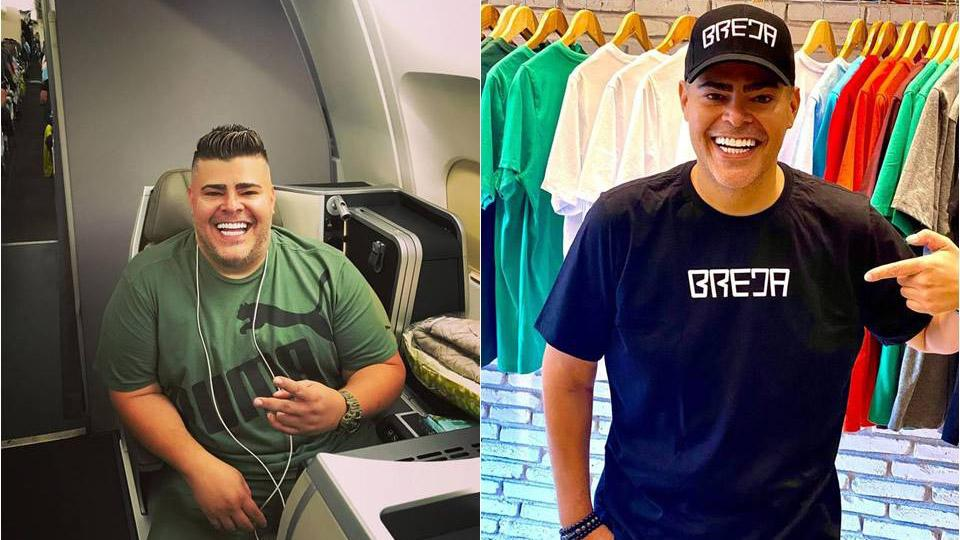 Rafael Vanucci antes e depois