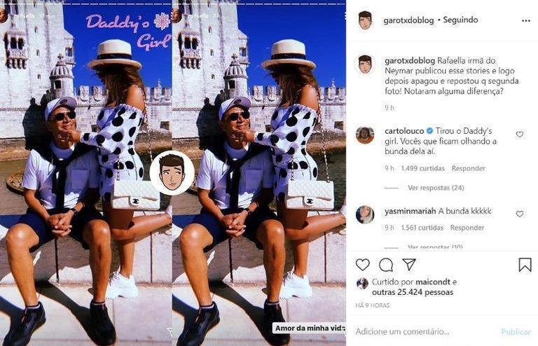 """Irmã de Neymar Jr é flagrada em foto e repercute na web: \""""Quem nunca?\"""""""