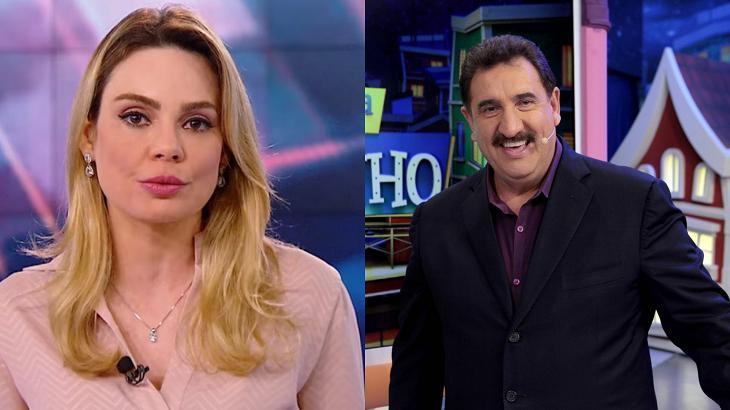 Ratinho (à direita) e Rachel Sheherazade (à esquerda) em foto montagem