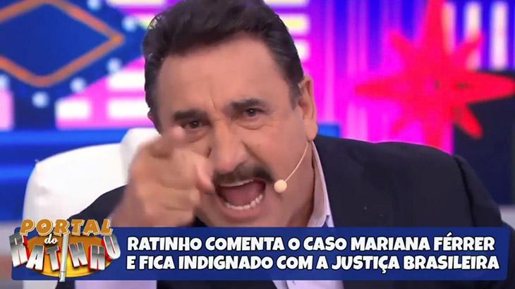 Ratinho se revolta contra julgamento do caso de estupro contra Mariana Ferrer