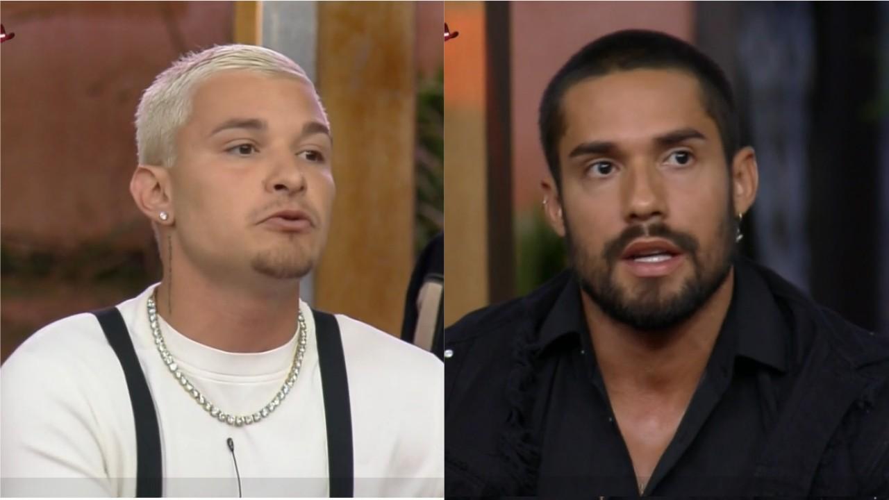 MC Gui e Bil Araújo se estressam em A Fazenda 2021