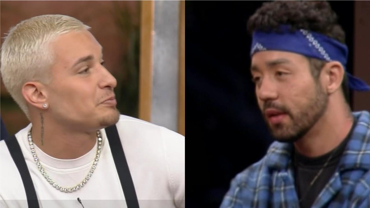 MC Gui e Rico Melquiades se provocam no intervalo de A Fazenda 2021
