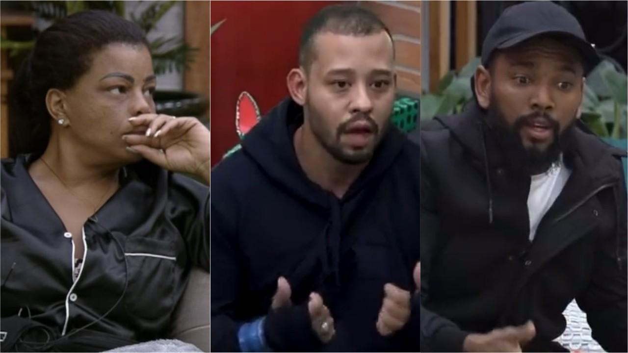 Tati Quebra Barraco e Mussunzinho estão sérios enquanto chamam atenção de Nego do Borel