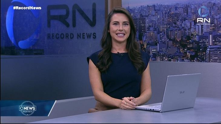 Manoela Caiado no jornal News Edição das 10h