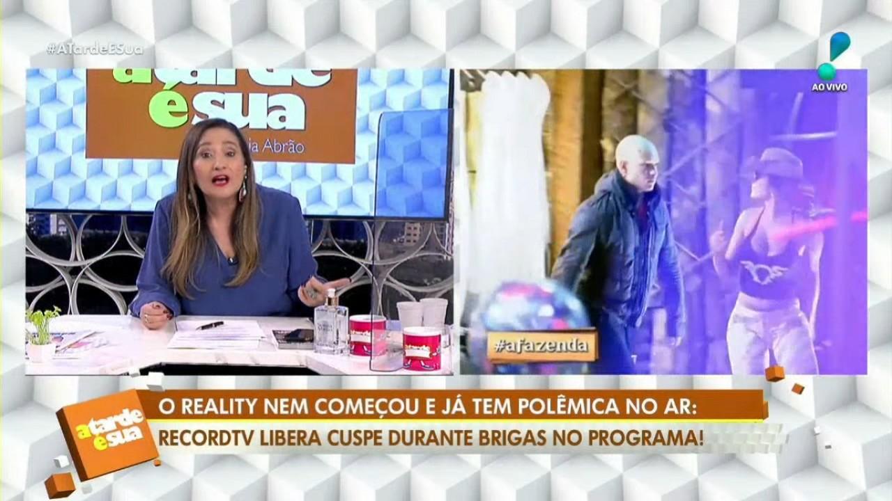 Sônia Abrão no programa A Tarde é Sua