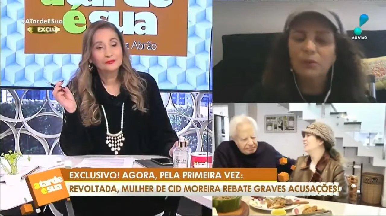 Sônia Abrão entrevistando esposa de Cid Moreira