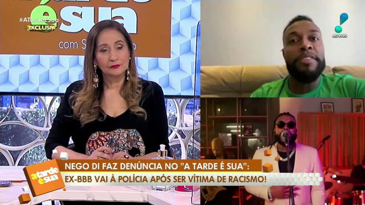 Sônia Abrão e o Nego Di
