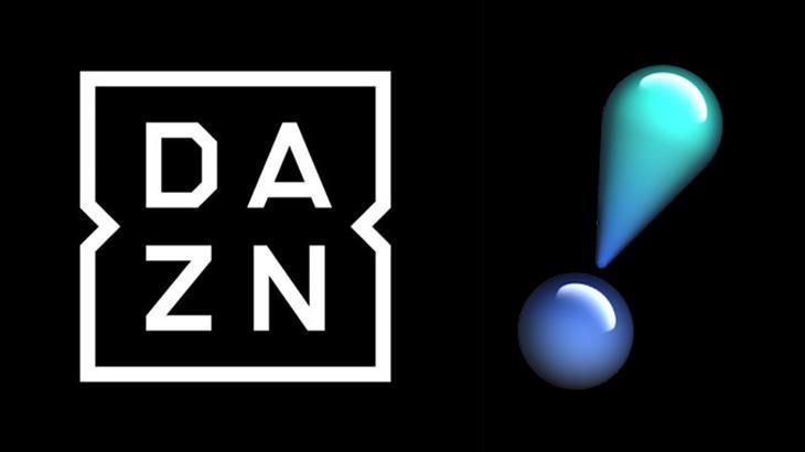 Logos da DAZN e RedeTV!