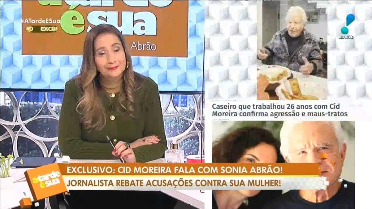 Cid Moreira no programa da Sônia Abrão