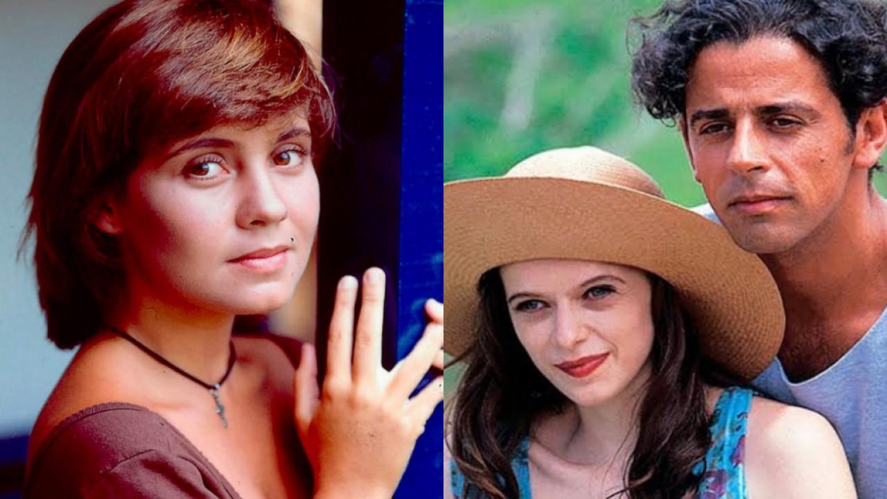 Adriana Esteves, Maria Luísa Mendonça e Taumaturgo Ferreira na novela Renascer, de 1993, de volta no Globoplay