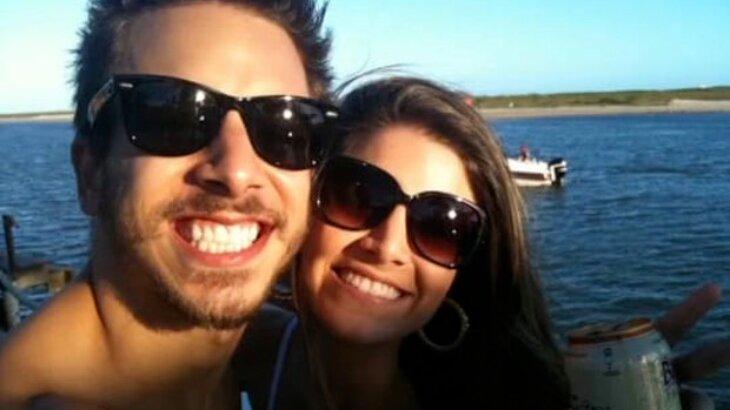 Selfie de Junior Lima e Renata Del Bianco