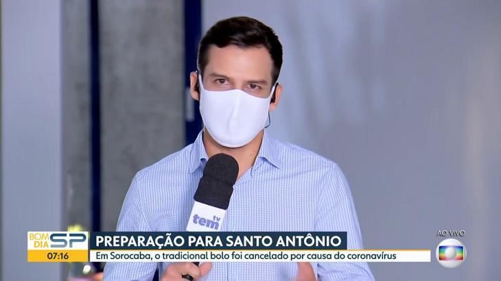 Dia dos Namorados: Repórter surpreende e faz declaração de amor ao marido na Globo