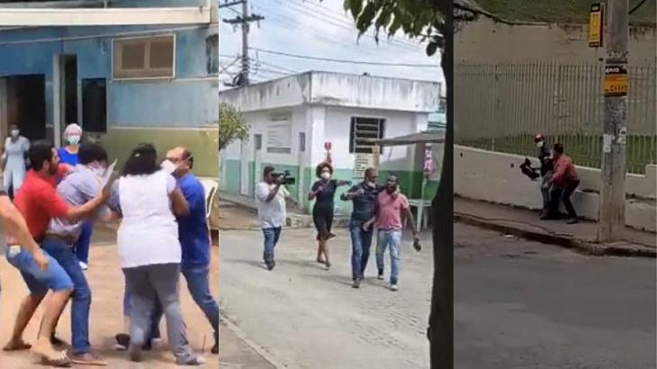 Foto montagem de jornalistas agredidos em 2020