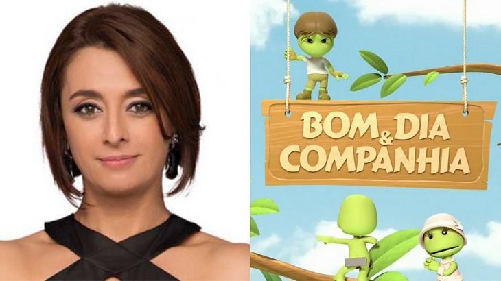 Cátia Fonseca (à esquerda) e logotipo do Bom Dia & Cia (à direita) em foto montagem