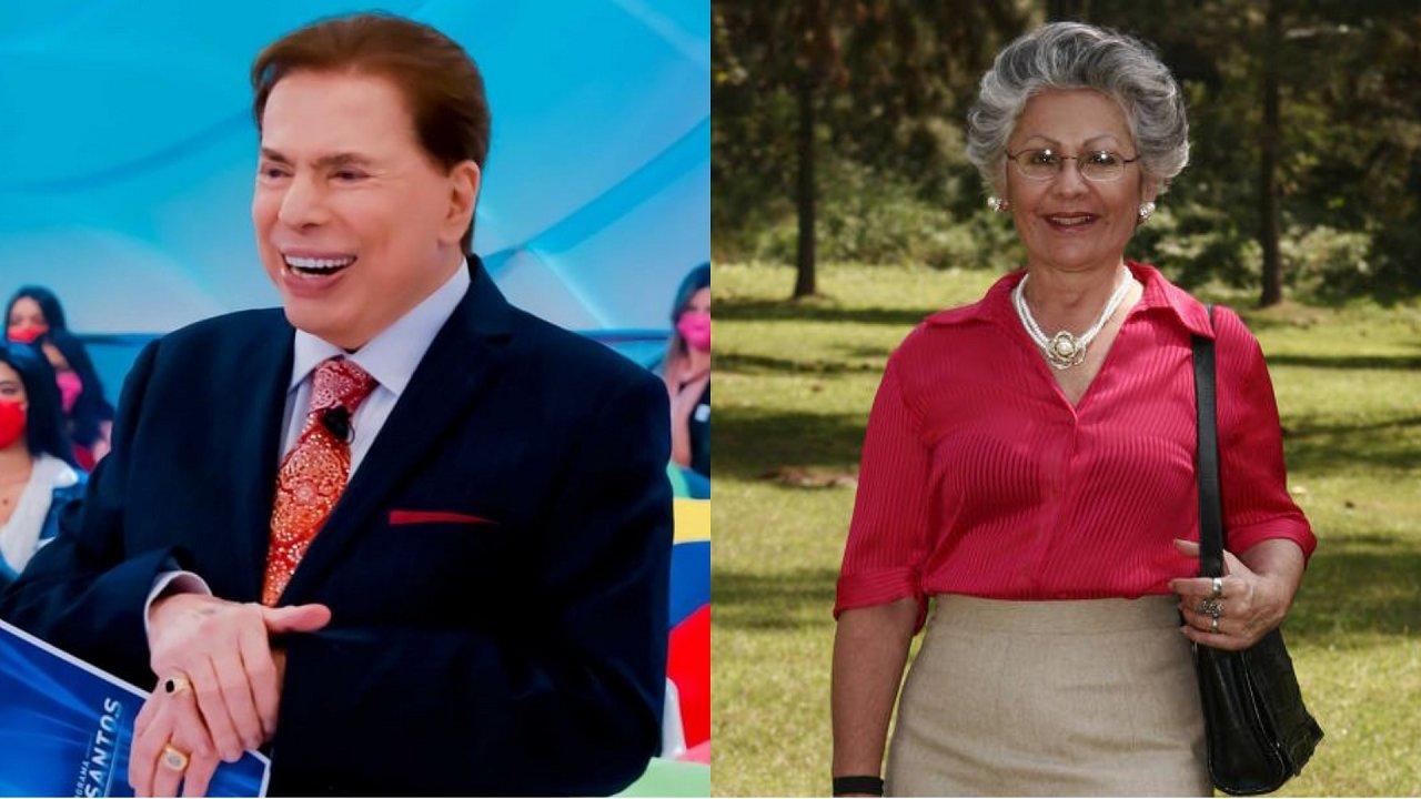 Silvio Santos (à esquerda) e Therry Klotzel (à direita) em foto montagem