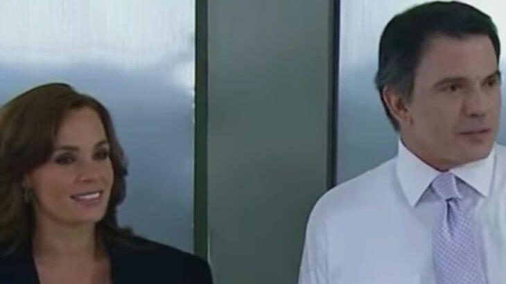 Roberta e German no elevador