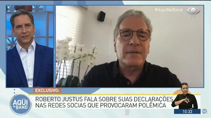 "Roberto Justus diz que Mion se arrependeu sobre coronavírus: \""Sabe que falou bobagem\"""