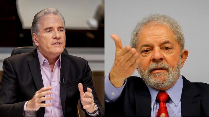 Roberto Justus (à esquerda) e Lula (à direita) em foto montagem