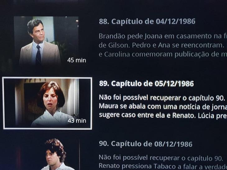 "Novela Roda de Fogo tem capítulo \""perdido\"" no Globoplay"