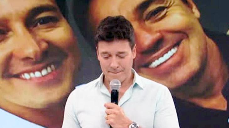 Rodrigo faro chora em homenagem a Gugu