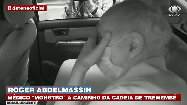 Brasil Urgente flagra Roger Abdelmassih abatido antes de ir para a cadeia