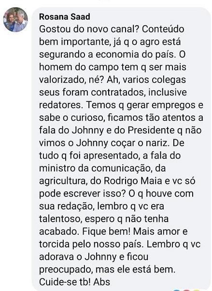 """Diretora da Band sai em defesa do canal AgroMais após crítica: \""""Mais amor\"""""""