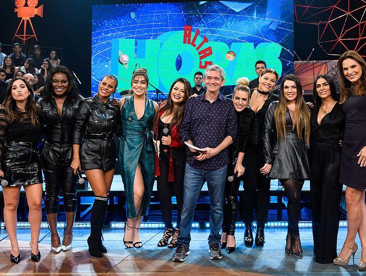 """Serginho Groisman recebe a banda Rouge no \""""Altas Horas\"""": \""""garotas especiais\"""""""