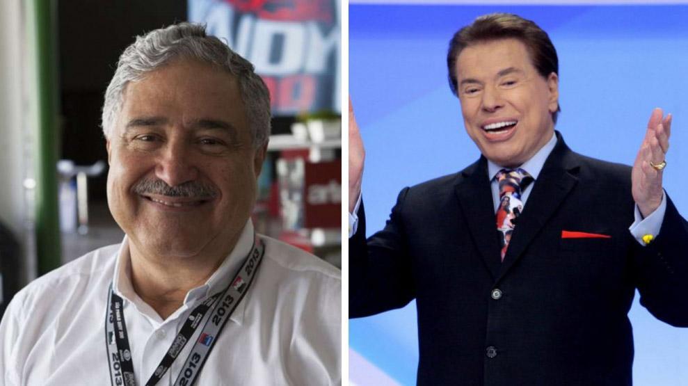 Johnny Saad e Silvio Santos