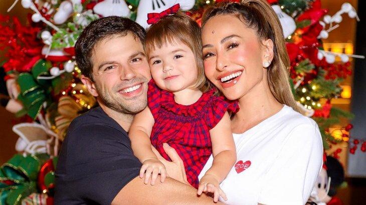 Duda Nagle, Sabrina Sato e Zoe no Natal