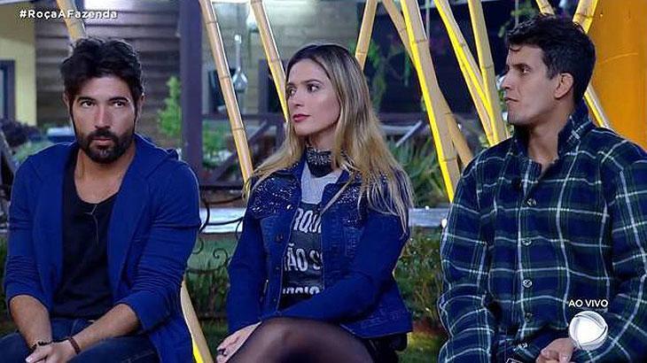 Sandro , Nadja e Felipe na Roça