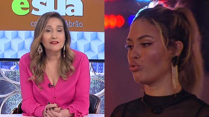 Sônia Abrão (à esquerda) e Sarah Andrade (à direita) em foto montagem