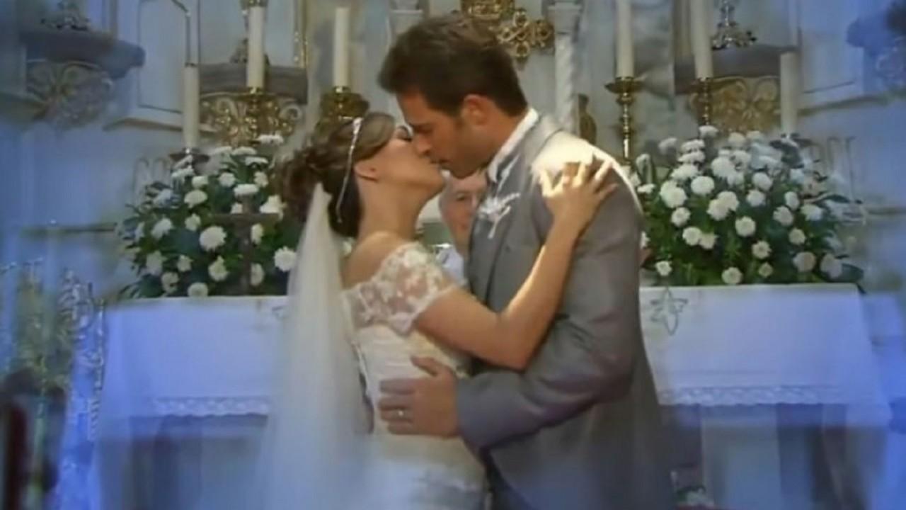 Cena de Amores Verdadeiros com o casamento de Liliana e Francisco