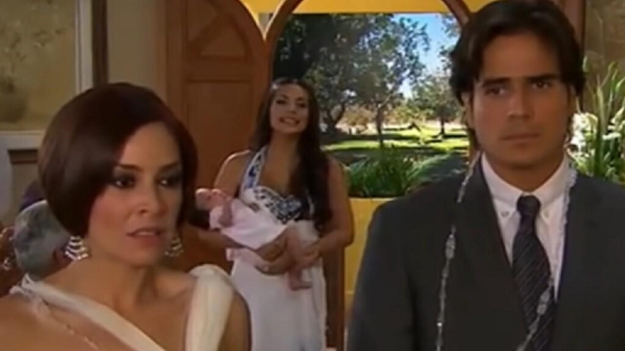 Cena de Coração Indomável com Maricruz no casamento de Otávio e Simone