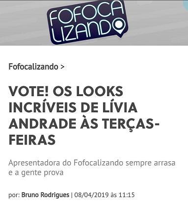 Cinco virtudes de Lívia Andrade que fazem falta no Fofocalizando