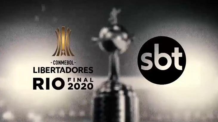 Logotipo da final da Libertadores no SBT