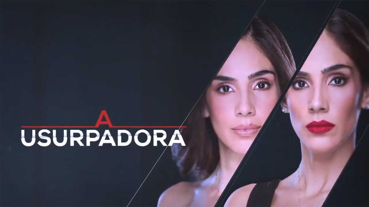 Logo A Usurpadora com Paola e Paulina posadas