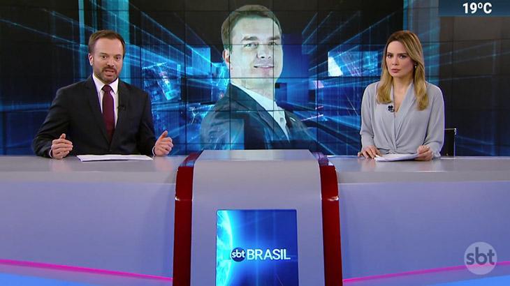 Marcelo Torres e Rachel Sheherazade no SBT Brasil