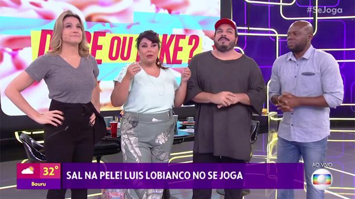 Fernanda Gentil, Fabiana Karla, Luís Lobianco e Érico Brás no Se Joga