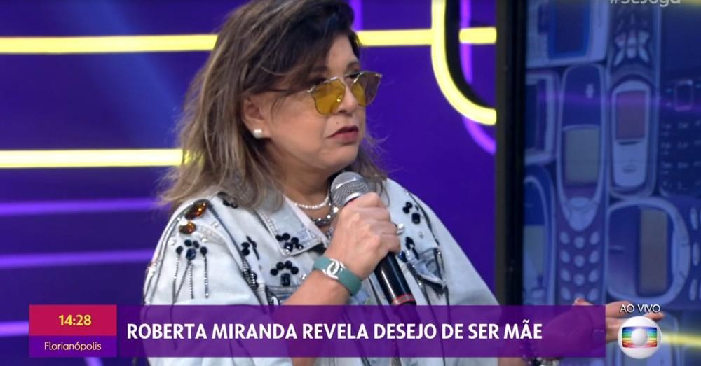 Roberta Miranda no ar pelo Se Joga, da Globo