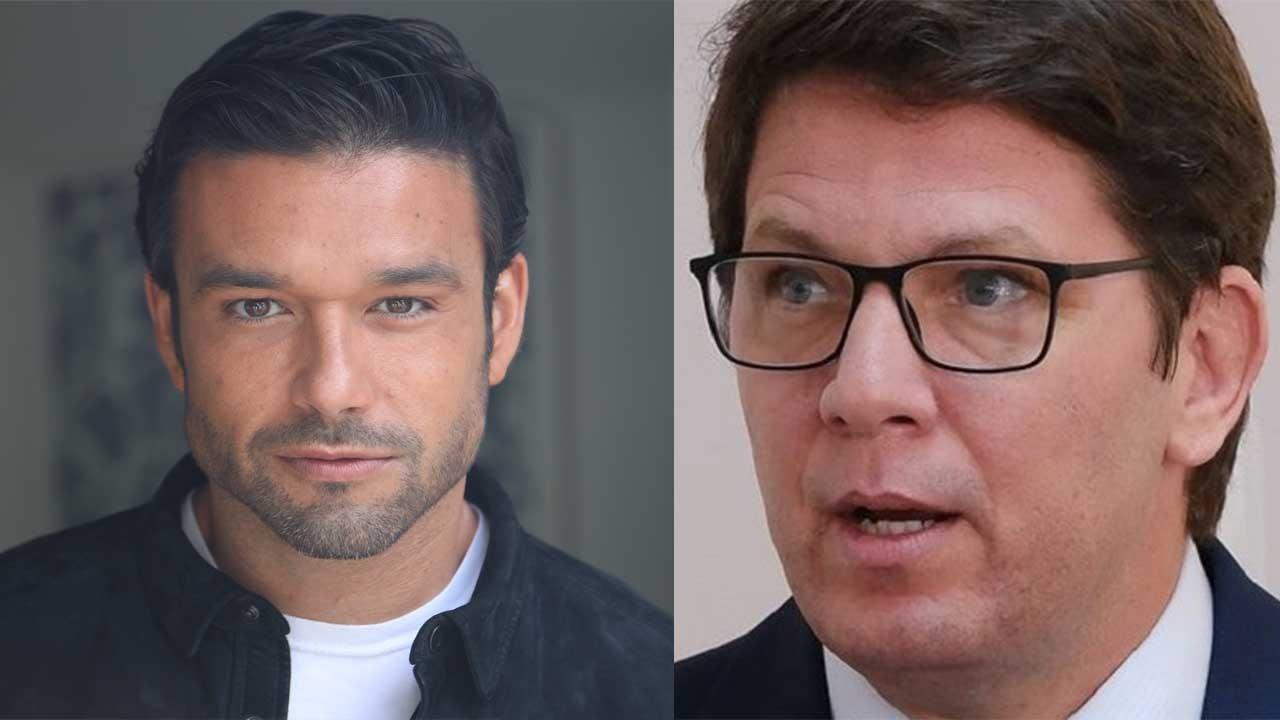 Sergio Marone posado; Mario Frias preocupado
