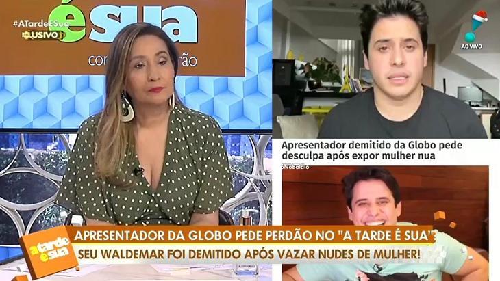 Sônia Abrão e Seu Waldemar no A Tarde é Sua