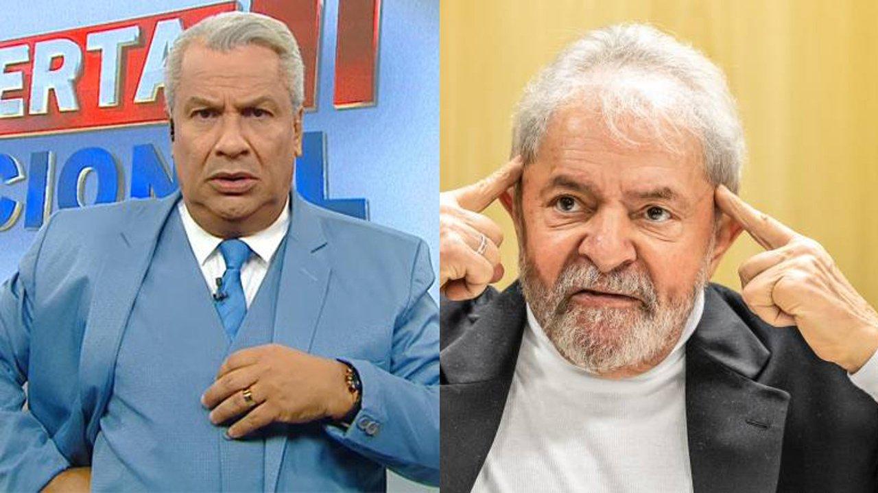 Sikêra Jr preocupado; Lula com o dedo na cabeça